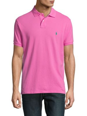 POLO RALPH LAUREN Custom-Fit Cotton Polo in Maui Pink