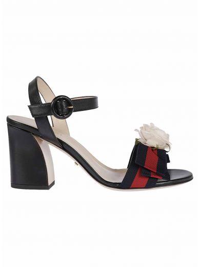 GUCCI Mid-Heel Sandals in Nero