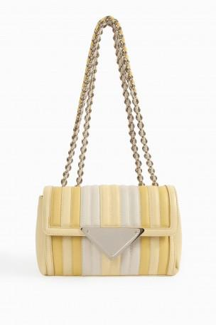 SARA BATTAGLIA Multi Stripe Chain Shoulder Bag