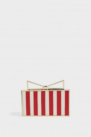 SARA BATTAGLIA Lady Me Elizabeth Striped Clutch