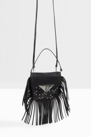 SARA BATTAGLIA Mini Stud Fringed Cross Body Bag