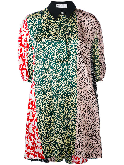 SONIA RYKIEL Multi-Print Shirt Dress