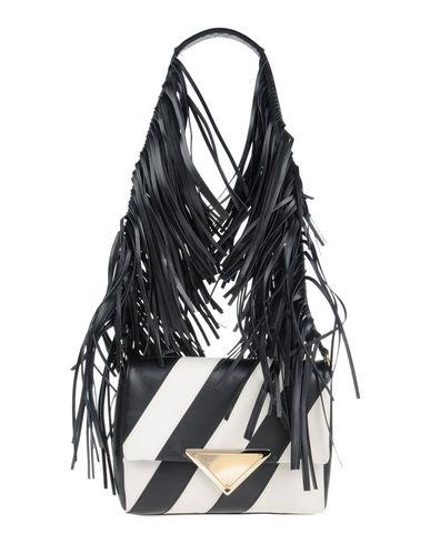 SARA BATTAGLIA Striped Fringe Shoulder Bag at yoox.com