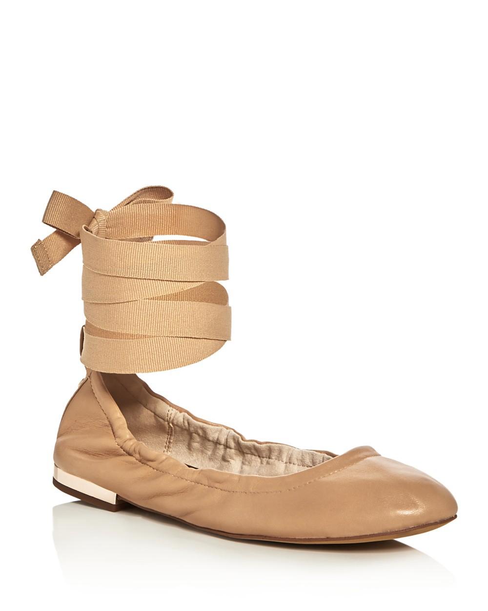 SAM EDELMAN Fallon Lace Up Ballet Flats at SPRING