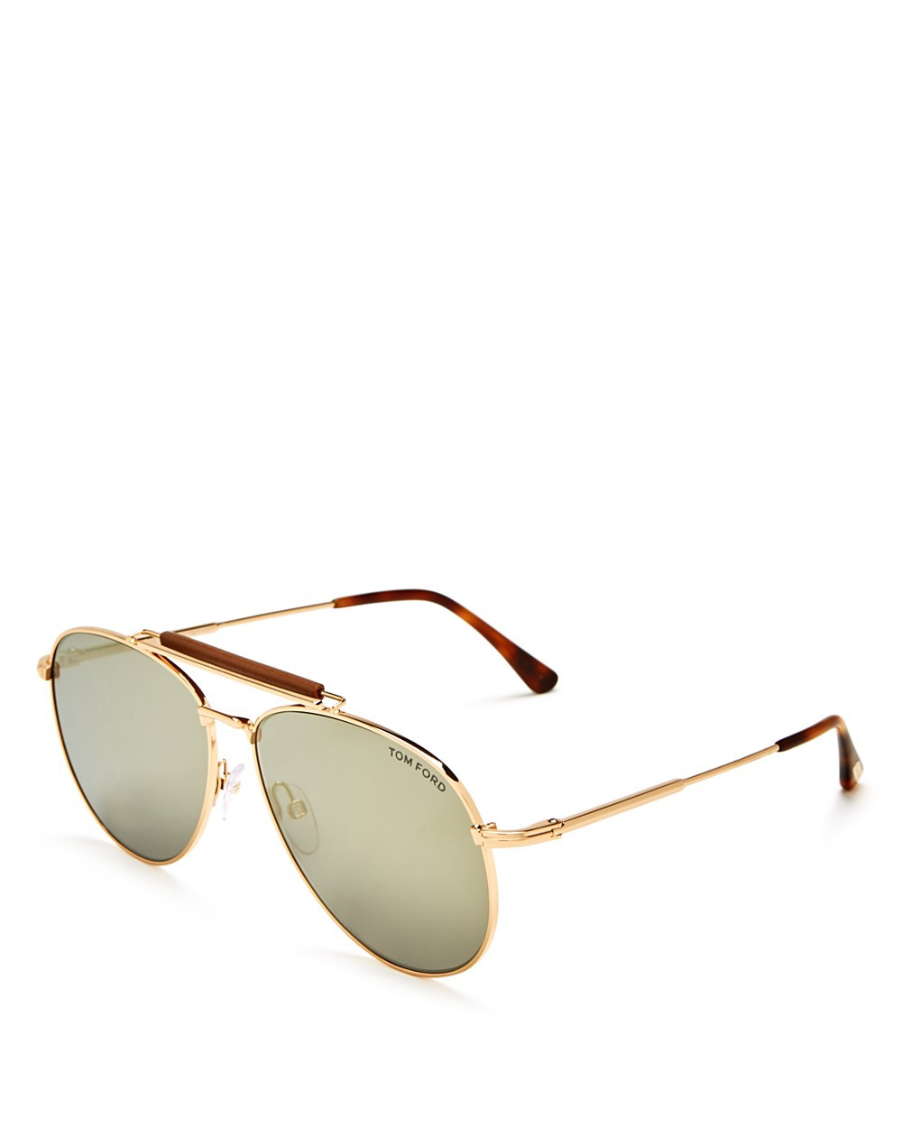 TOM FORD Mirrored Aviator Sunglasses, 62Mm in Brown/Gold Mirror