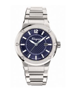 SALVATORE FERRAGAMO Mens F-80 Stainless Steel Bracelet Watch in Silver
