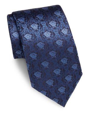 VERSACE Embossed Silk Tie