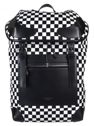 GIVENCHY Rider Leather And Checkerboard Shell Backpack at Italist.com