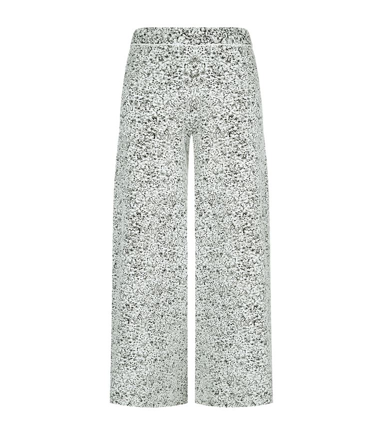 THEORY Henriet Cropped Jacquard Trousers in Ivory