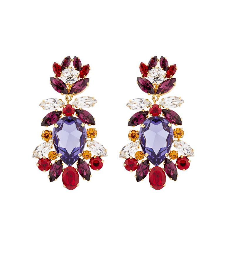 DOLCE & GABBANA Crystal Clip-On Earrings in Multi