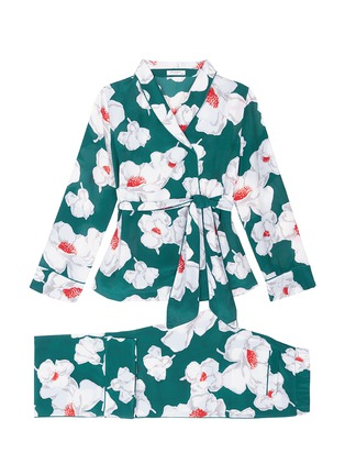 EQUIPMENT 'Odette' Floral Print Wrap Top Silk Pyjama Set