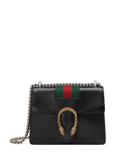 GUCCI Dionysus Small Chain Crossbody Bag, Black