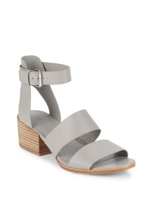 VINCE Frida Leather Sandals in Steel