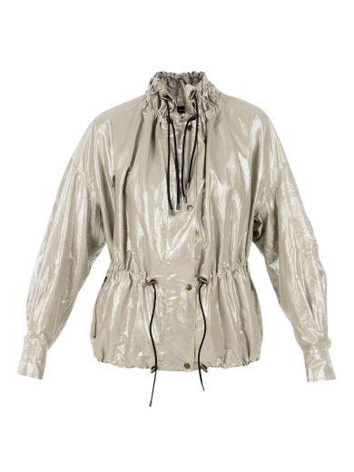 ISABEL MARANT Metallic Lux Jacket at Italist.com