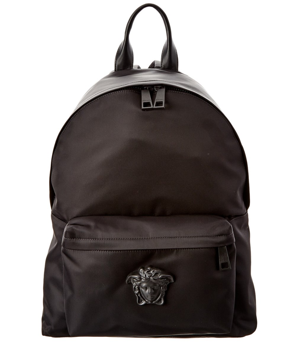 VERSACE Versace Medusa Nylon &Amp; Leather Backpack'
