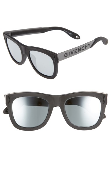 GIVENCHY 52Mm Gradient Lens Sunglasses in Black Silver