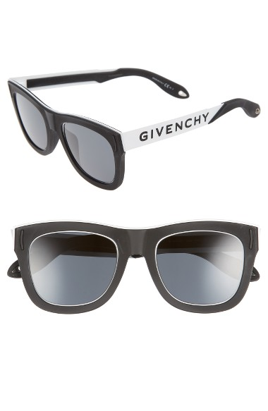 GIVENCHY 52Mm Gradient Lens Sunglasses in Black White