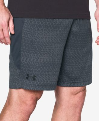 UNDER ARMOUR Raid Jacquard Shorts in Charcoal
