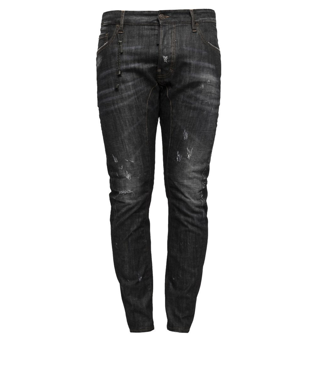 DSQUARED2 Dsquared2 Men'S  Black Cotton Jeans'