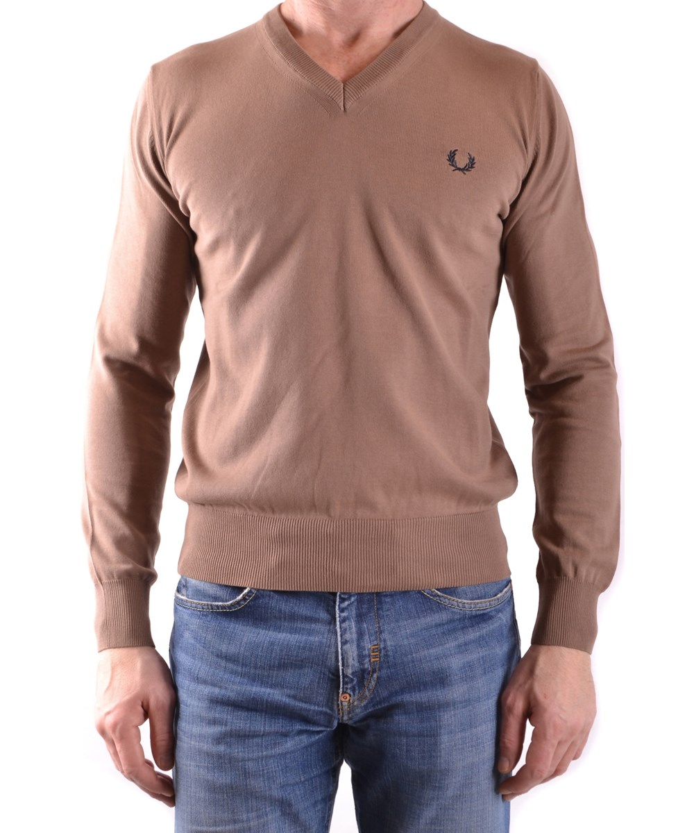 FRED PERRY Fred Perry Men'S  Beige Cotton Sweater'
