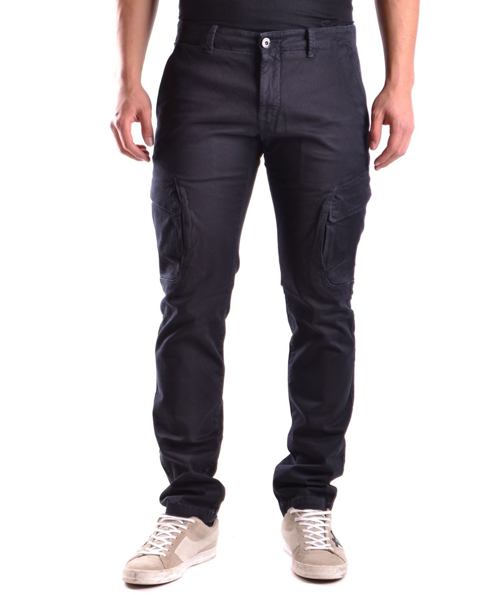 STONE ISLAND Stone Island Men'S  Blue Cotton Pants' at Bluefly