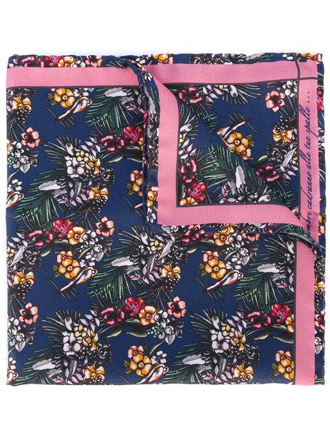 FEFÈ GLAMOUR POCHETTE Floral Print Pocket Square