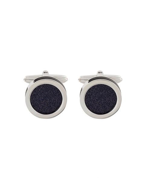 LANVIN Round Galaxy Stone Cufflinks