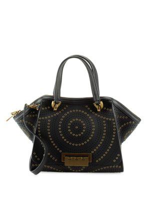 ZAC ZAC POSEN Leather Top-Handle Bag in Black