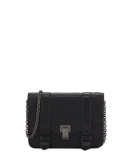 PROENZA SCHOULER Ps1 Wallet On A Chain, Black