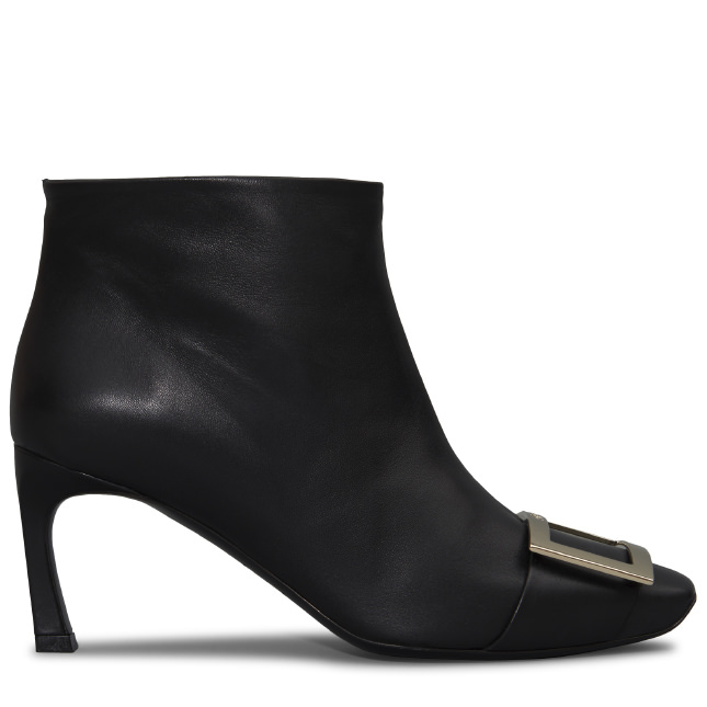 ROGER VIVIER Trompette Ankle Boot In Leather