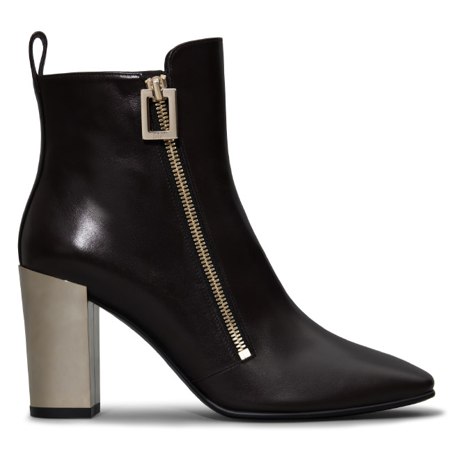 ROGER VIVIER Polly Ankle Boots In Leather at Roger Vivier