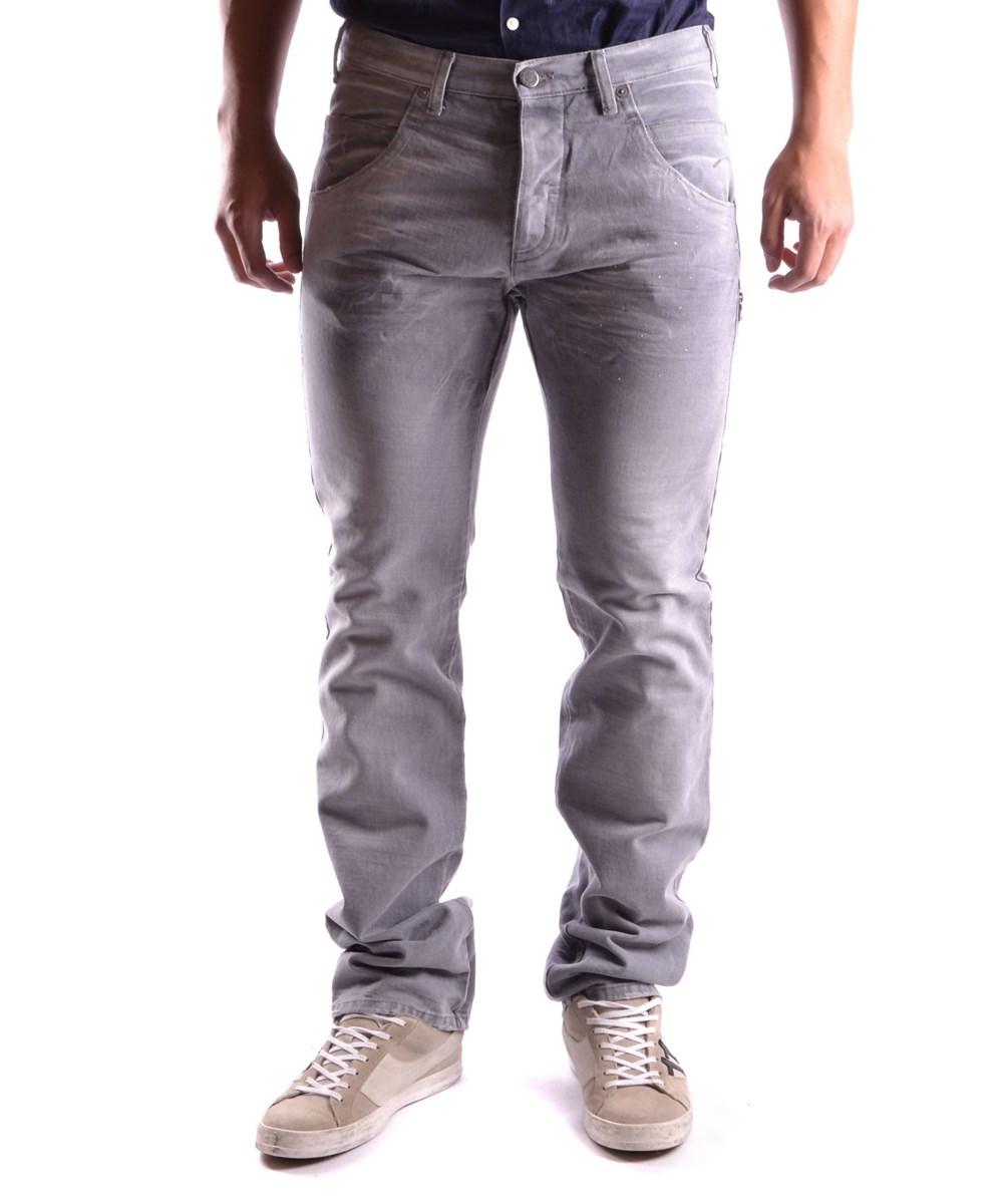 NEIL BARRETT Neil Barrett Men'S  Grey Cotton Jeans'