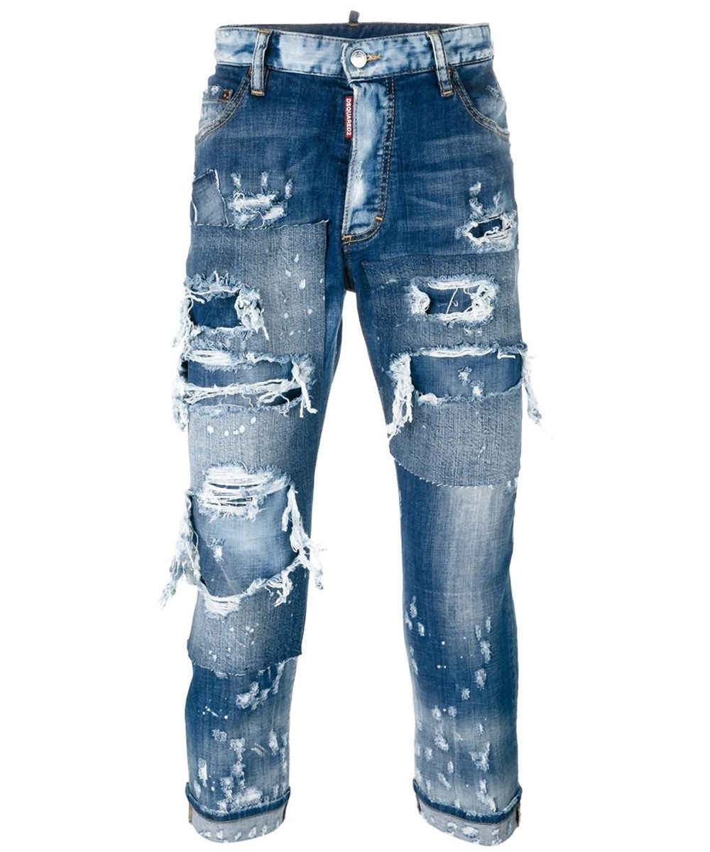 DSQUARED2 Dsquared2 Men'S  Blue Cotton Jeans' at Bluefly