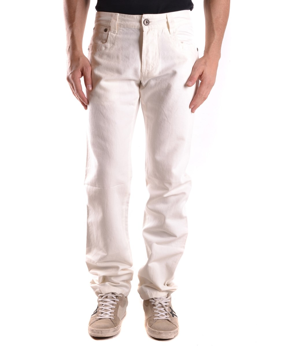 BIKKEMBERGS Bikkembergs Men'S  White Cotton Jeans' at Bluefly