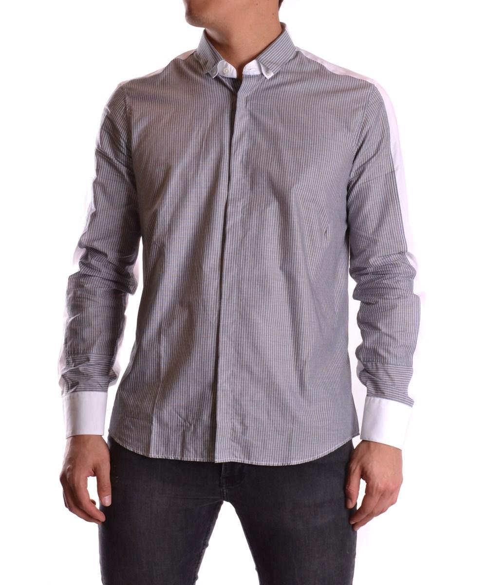 NEIL BARRETT Neil Barrett Men'S  Grey Cotton Shirt'