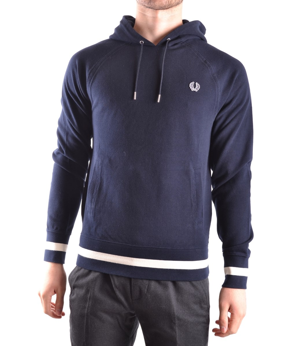 FRED PERRY Fred Perry Men'S  Blue Cotton Sweatshirt'