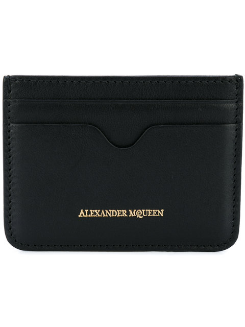 ALEXANDER MCQUEEN Leather Card Holder at Farfetch