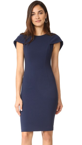BLACK HALO Desta Sheath Dress in Pacific Blue