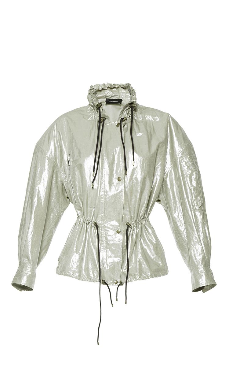 ISABEL MARANT Metallic Lux Jacket at Moda Operandi