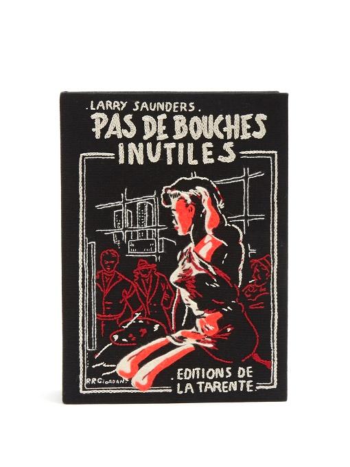 OLYMPIA LE-TAN Pas De Bouches Inutiles Book Clutch at MATCHESFASHION.COM