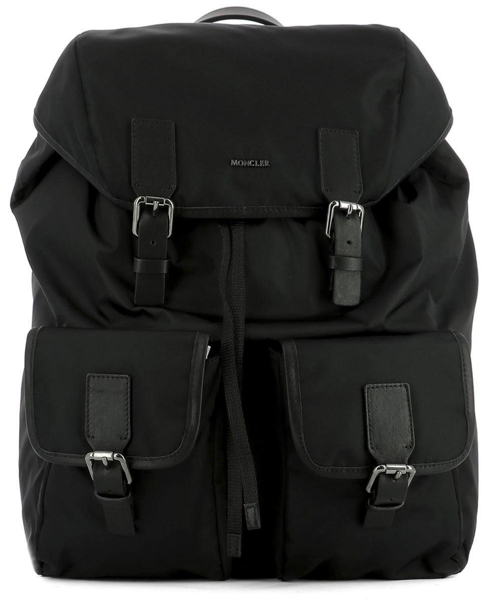 MONCLER Black Fabric Backpack