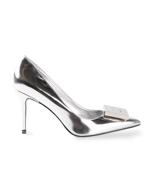 ACNE STUDIOS Andrea Metallic Leather Pumps at Farfetch