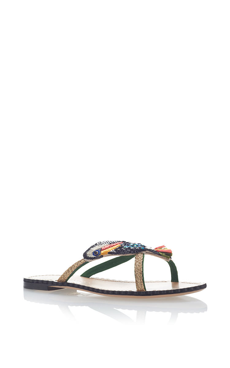 CHARLOTTE OLYMPIA Toucano Flat Sandal at Moda Operandi