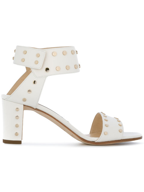 JIMMY CHOO Veto 65 Embellished Leather Sandals at Farfetch