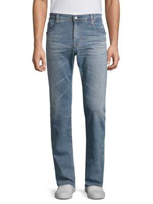 AG Matchbox Slim-Straight Jeans in 20 Years Jump Cut