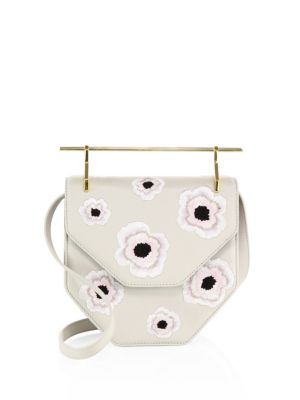 M2MALLETIER Amor Fati Embroidered Leather Shoulder Bag at Saks Fifth Avenue