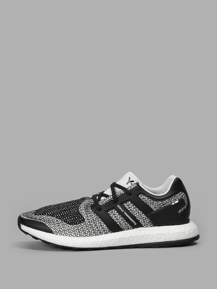 Y-3 Y-3 Men'S Black And White Pure Boost