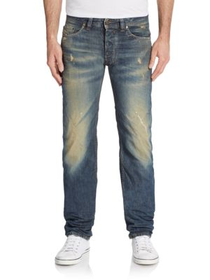 DIESEL Safado Distressed Slim-Straight Jeans