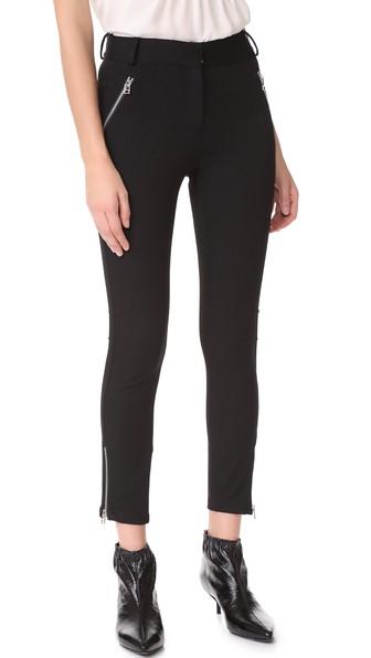 VERONICA BEARD Ash Seamed Skinny Pants in Black