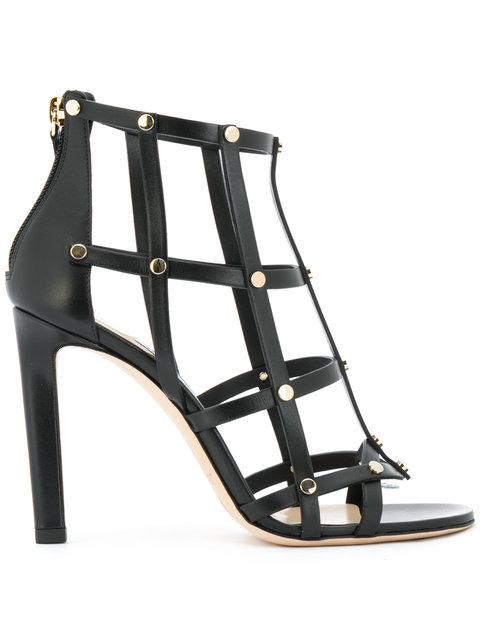 JIMMY CHOO Tina Sandals in Black